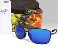 New Maui Jim Kaupo Gap Matte Blue / Blue Hawaii Polarized Sunglasses B437-03M