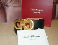 Salvatore Ferragamo Belt pants size 30-32-44-36-38 Brushed Gold Buckle
