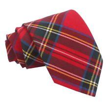 Tartan Regular Tie- red-royal-stewart