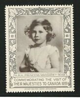 H.R.H. Princess Margaret Rose, 1939 Royal Visit to Canada, Poster Stamp