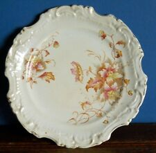 An antique Thomas Till & Sons Queen's Ware Plate [imperfect