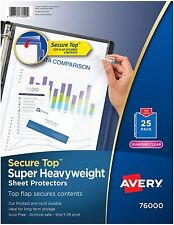 Secure Top Sheet Protectors Super Heavy Gauge Letter Clear Pack Of 25