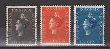 NVPH Netherlands Nederland 310 311 312 used 1938 Koningin Wilhelmina Pays Bas