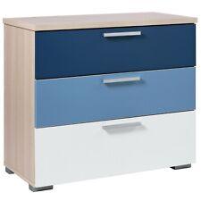 Billie 3 Drawer Chest Wooden Bedroom Cabinet Table  Furniture Storage Blue Kids