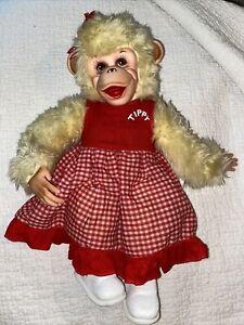 "Vintage 1950's Rushton Tippy Monkey, Girlfriend of Zip Zippy, Howdy Doody 15"""