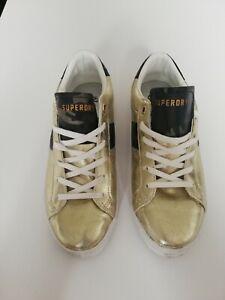 Superdry Schuhe Damen 39 Gold Sneaker