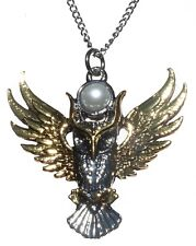 Briar Bestiary Owl of Athena Amulet Pendant Necklace For Magickal Wisdom BB12