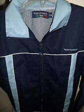 Diadora,lined, light weight jacket age 7-8,in navy,pale blue/white zip up front