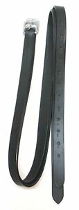 """D.A. Brand 54"""" Black Leather English Stirrup Leathers Horse Tack Equine"""