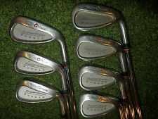 WOW TAYLORMADE GOLF CLUBS BURNER SUPERSTEEL IRONS TS100 TOUR STIFF STEEL SHAFTS