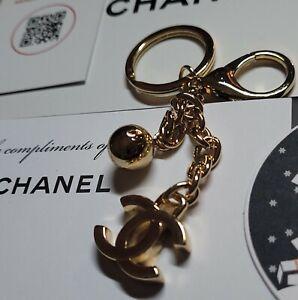 CHANEL Key ring  chain CC logo gold tone  BAG CHARM