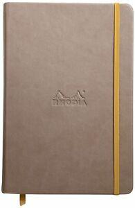 Rhodia Rhodiarama A5 Webnotebook, 5.5 in x 8.25, Lined - Taupe (118744)
