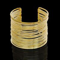 Punk Women Ladies Gold Silver Hollow Open Wide Bangle Cuff Jewellery Bracelet