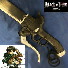 Attack on Titan Eren Jaeger's Stainless Steel Gun Blade Sword & leather Sheath