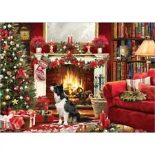 NEW 1000 piece Jigsaw Puzzle Cosy Christmas Scene BORDER COLLIE Dog Lover Gift