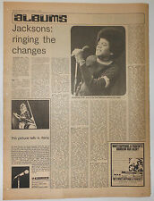 """JACKSON FIVE Dancing Machine Review 1974 UK 16x12"""" clipping/MOTT THE HOOPLE Live"""