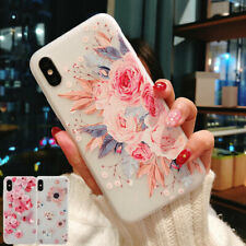 F iPhone 11 Pro Max XS Max XR 7 8 Plus Matte Flower Silicone Slim Case Cover