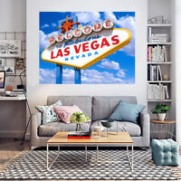 Huge Large Big Poster Thin Canvas Wall  Art Print Home Decor - Las Vegas Welcome