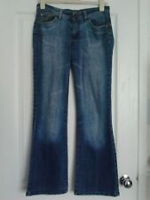 WOMENS NEW LOOK STRUT BOOTCUT BLUE STONEWASHED JEANS SIZE 10 L32 VGC
