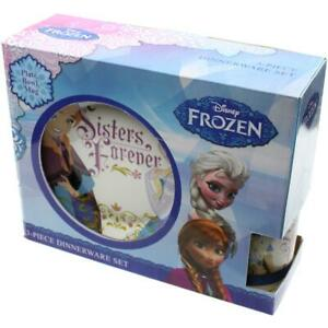 Disney Frozen Sisters Forever 3PC Porcelain Kids Dinnerware Set