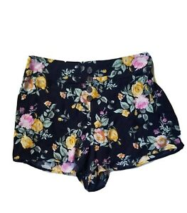 Womens Rue 21 Floral Shorts Size Large Navy NEW!