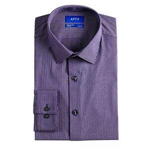 Apt. 9 Men's Dress Shirt Slim-Fit Wrinkle Resistant Long Sleeve Top T-Shirt Tee