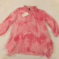 Ethyl Blouse Women's Size Medium Boho Top Hippie Tie-Dye Shirt NWT