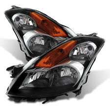 Fit Nissan 07-09 Altima 4Dr Sedan Black Housing Replacement Headlights Pair Set