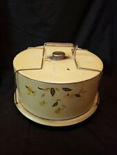 """Vintage Metal """"Autumn Leaf"""" Covered Cake Plate/Carriers"""