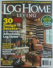 Log Home Living Aug 2017 30 Design Secrets Amazing Affordable FREE SHIPPING sb