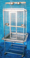 """36"""" SUS304 Stainless Steel Parrot Cage Bird Cage Cockatoos Macaws ST68P"""