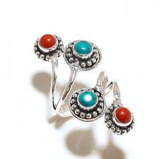 Ring Fashion Jewelry Adjustable Size 925 Silver Plated Handmade Multi-Color