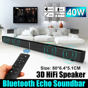 Home TV Theater Soundbar Bluetooth Sound Bar Speaker System Subwoofer w/ Remote