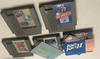 Rad Racer NES Lot 1 & ii Both Manual Poster SMB Track And Field 2 Ice Hockey