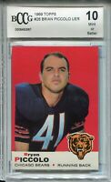 1969 Topps Football #26 Bryon Brian Piccolo Rookie Card Graded Beckett BCCG 10