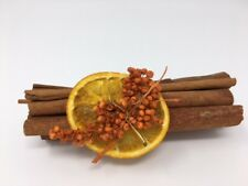 Cinnamon and Orange Cinnamon Stick Bundle, Boxed with Decorative Orange Slice