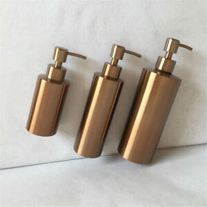 304 Stainless Steel Soap Dispenser Pump Liquid Bottle Kitchen Bathroom Rose Gold
