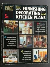 1966 DAILY MAIL BOOK FURNISHING, DECORATING & KITCHEN PLANS Home Interior Design