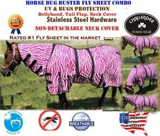"""68"""" Horse Bug Mosquito Fly Sheet Summer Spring Airflow Mesh Uv Neck 73142"""