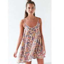 Urban Outfitters Kimchi Blue Rainbow Floral  Lace Up Side Mini Dress NEW XS