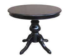 Table à manger - Table noire - Petite table de repas - Table ronde rallonge