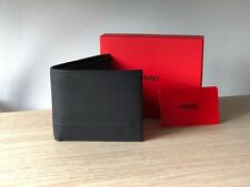 Hugo BOSS Men's Black Leather Wallet 'Highway 4 cc Coin' Bi-fold Style 50370309