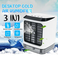 USB Mini Portable Air Conditioner Humidifier Purifier Desktop Air Cooler