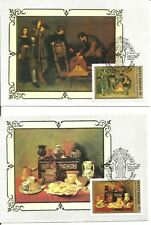 Russia Hermitage -  Spanish Artists Paintings, set of 6 MAXI CARDS 1985 y