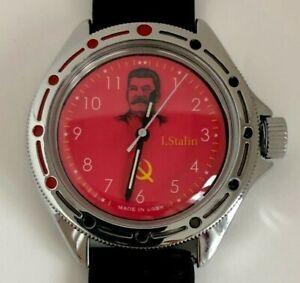 USSR Stalin wristwatch with leader men mechanical Vostok