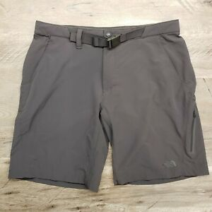 The North Face Mens Trail Hiking Nylon Shorts Belted Size 36 Dark Gray Nice