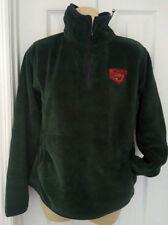 MINNESOTA WILD JACKET Womens Coat Size Small Green Pullover Jacket Plush Warm