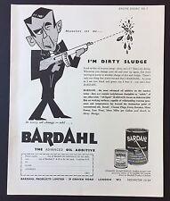 Magazine Advert BARDAHL Motor Oil Additive ENGINE Car 1961 Full Page VINTAGE