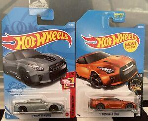 Hot Wheels 2 x Nissan Skyline GT-R (R35) Orange & Grey Die-cast