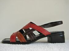 Remonte R5911-15 Brown/Tan/Russet Leather Slingback Size UK7 EU41 1.75 In Heel